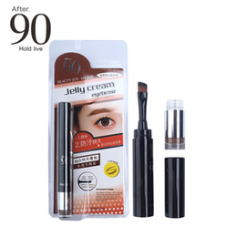 $enCountryForm.capitalKeyWord Australia - After 90 Makeup Waterproof Lock Color Cream Eyebrow Gel Pencil 3 Colors Eyebrow Tint Create 3D Natural Eyebrows Pen With Brush