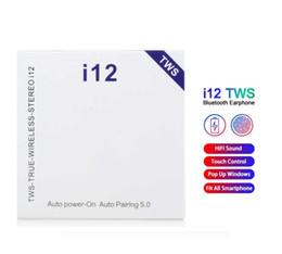 Venta al por mayor de i12 tws True auriculares estéreo inalámbricos auriculares Bluetooth auriculares auriculares caja de carga para Android IOS 50PCS / LOT