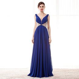$enCountryForm.capitalKeyWord UK - Hot Sale Summer Beading V Neck A line Sleeveless Evening Dresses Prom Party Gowns Plus Size Celebrity Dresses Abendkleider