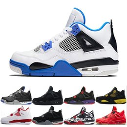 94025689cf1b44 2019 New 4 Tattoo JACK Travis Scotts X 4s Basketball Shoes Houston Oiler  White Cement Raptors KAWS Cheap Royalty Sports Air Mens Sneakers