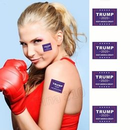 PeoPle window stickers online shopping - New Environmental Protection US Election Trump Label Sticker Face to chest Sticking and Self adhesive Composite Window Stickers
