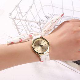 $enCountryForm.capitalKeyWord Australia - Women's Dress Watch Flower Cloth Design Watch Sweet Girl Bracelet Fashion 2019 sweet new design watches montre femme