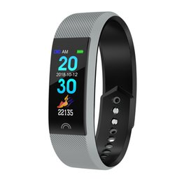 pedometer sleep tracker compatible windows phone 2019 - F6 color screen fitness watch heart rate monitoring smart bracelet pedometer sleep monitoring smart bracelet for Samsung