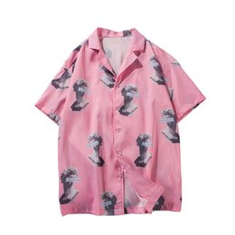 Chinese  men clothes 2019 Full Printed Turn-down Collar short sleeve shirts men women japanese streetwear hawaiian dress harajuku shirts manufacturers