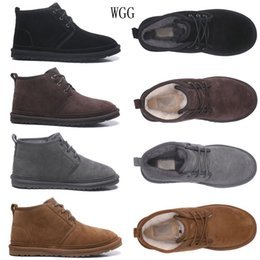 CheCkered heels online shopping - 2020 New WGG Men Australia Classic Low Boots Top quality grey black Chocolate maroon boots Snow Winter boots size