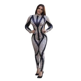 Xxl Women S Jumpsuits Australia - Geometric O Neck Sleeveless Rompers Womens Jumpsuit +XXL Sexy Knee Length Playsuit Women Bodycon Casual Bodysuit Hot Sale