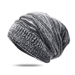 $enCountryForm.capitalKeyWord Australia - Autumn Winter Hats for Women and Men Beanies Knitted Solid Warmer Caps Female Baggy Oversized Slouch Striped Hip Hop Hat Caps