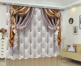 Wall Curtains UK - Customized Chinese Modern Luxury 3D Blackout Window Curtain Drapes For Living room Bed room Hotel Wall Tapestry Cortinas