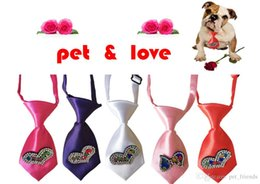 Quality Bowties Australia - 50pcs New Valentine's Day Pet Dog Ties hight quality Dianond Polyester Cat Dog Neckties Bowties Pet Holiday Grooming Accessories