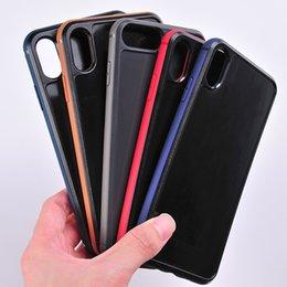 Venta al por mayor de Forme la cáscara de TPU con el respaldo de la PC adecuado con la caja de cuero plástica cruda del caucho de epoxy de madera de la PU de cuero para el iPhone X / Xs XR Xs Max 8 / 7Plus