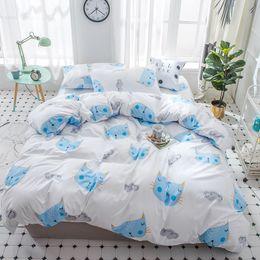 $enCountryForm.capitalKeyWord Australia - Hot Sale Home Bedding set Jacquard Duvet cover set 4pcs bed linens luxurious Bedclothes Queen king size Bed sets Golden Blue