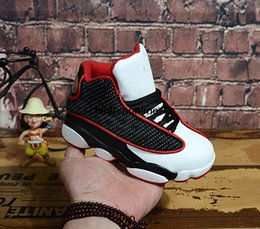 Discount babys shoes Online Sale 2018 Cheap New 13 Black White Kids basketball shoes for Boys Girls sneakers Children Babys 13s running shoe