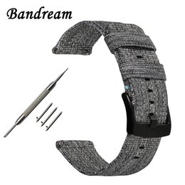 $enCountryForm.capitalKeyWord Australia - Canvas Nylon Watchband 18mm 20mm 22mm Universal Watch Band Quick Release Strap Stainless Steel Clasp Bracelet Wristband + Tools T190620