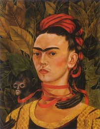 China Frida Kahlo Art Self Portrait,Oil Painting Reproduction High Quality Giclee Print on Canvas Modern Home Art Decor 181 suppliers