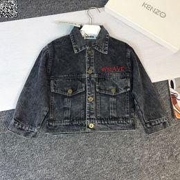 $enCountryForm.capitalKeyWord Australia - Boy jacket kids designer clothing autumn washed denim jacket classic embroidered tiger head design casual jacket size 90-130cm