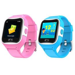 Smart Watch Phone Touch Screen Australia - 1.3inch Touch Screen SMA - M2 Children Smart wristband Phone GPS Tracker Waterproof HD Smart Watch For Kids SOS Call Pink Soft