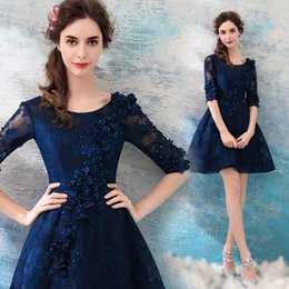 Scalloped wedding dreSSeS online shopping - 2018 new stock plus size women pregnant bridesmaid dresses wedding party A line lace flower backless sexy romantic cheap