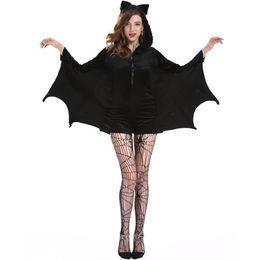 $enCountryForm.capitalKeyWord Australia - Adult Halloween Sexy Female Batman Jumpsuits With Socks Costume Cosplay Game Uniform Dress Halloween Costumes Cosplay Include Socks M-4XL