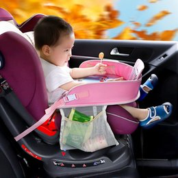 Baby Car Seat Toys Australia - Aispmee Waterproof Table Car Seat Tray Storage Kids Toys Infant Holder Children Dining Drink Table Baby Fence In-car Accessories