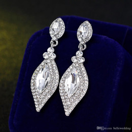 longest earrings NZ - Shining Fashion Crystals Earrings Rhinestones Long Drop Earring For Women Bridal Jewelry Wedding Gift For Bridesmaids BW-012