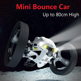 Machine Toy Car Australia - Rc Car Bounce Car Remote Control Toys Rc Robot Peg 2 .4ghz 80cm High Jumping Car Radio Controlled Cars Machine Led Night Toy Gift