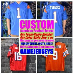 Football American Australia - Customized american football jerseys college cheap authentic sports jersey stitched mens womens youth kids 4xl 5xl 6xl 7xl top quality