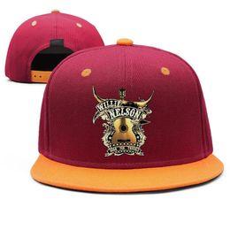 Orange Blue Vintage Hat Australia - Willie Nelson graphic Design Snapback Flat Brim Baseball Cap Hip-Hop Trucker Hats Adjustable Vintage