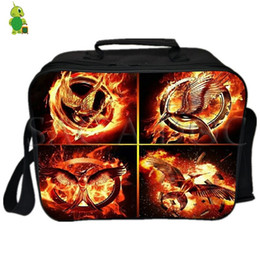 Picnic Ice Packs NZ - The Fire Lunch Bag Thermal Insulation Cooler Bag Ice Pack Women Men Camping Shoulder Fresh Keeping Picnic