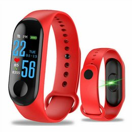 Smart watcheS dhl online shopping - M3 Smart Bracelet Fitness tracker Smart Watch with Heart Rate Waterproof Bracelet Pedometer Wristband For IOS Android Cellphone Free DHL