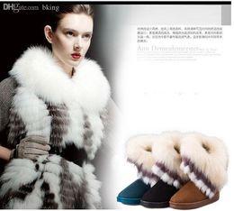 $enCountryForm.capitalKeyWord Australia - Wholesale-Winter Fashion Rabbit Fur Ladies Girls Snow Boots Non Slip Thick Sole Flat Womens Ankle Boots Warm Boots