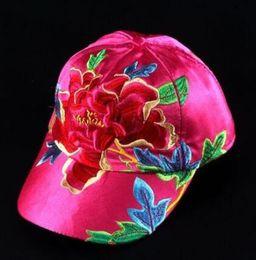 $enCountryForm.capitalKeyWord Australia - BALL hat man women couple hat fashion brand Outdoor sports breathable visor hats Rose satin Embroidered 3d Flower Shade sun baseball cap