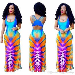 $enCountryForm.capitalKeyWord Australia - Nice African Clothes Sexy African Dresses For Women Print Summer Long Robe 2xl Plus Size Sleeveless Vestido 1000pcs In Stock