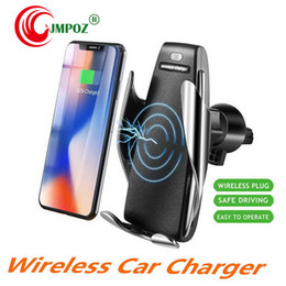best iphone packages Australia - 2019 Best Intelligent Induction Wireless Fast Charge Car Bracket Automatic Air Outlet Kickstand Mobile Phone Universal Retail Package