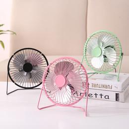 Aluminium Fans NZ - Four inch USB Mini Fan Electronic Fan Iron Art Fan Direct Selling