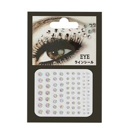 wholesale face gems NZ - 3D Face Body Temporary Tattoo Stickers Set Glitter Acrylic Self-Adhesive Face Jewels Gems Body Eyes Chest Decor
