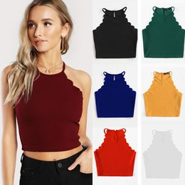 $enCountryForm.capitalKeyWord Australia - Summer explosion models exposed belly navel back strap camisole female summer new slim sexy shirt T-shirt