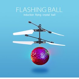 Big Toys Helicopter Australia - 10 models RC Drone Flying copter Ball Aircraft Helicopter Led Flashing Light Up Toys Induction Electric Toy sensor Kids Children gift