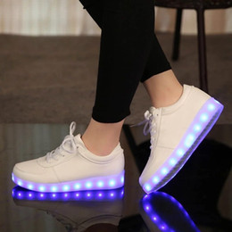 kids party shoes size NZ - UncleJerry Size 31-46 USB chargering Led Shoes for kids & adults Light Up Sneakers for boys girls men women Glowing Party Shoes T191001