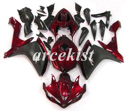 r1 tank UK - Motorcycle New ABS Injection Mold Full Tank cover Fairings Kits Fit For YAMAHA YZF-R1 2007 2008 07 08 bodywork set Red Light