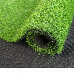 artificial grass turf wholesale NZ - Grass Mat 100cm*100cm Green Artificial Lawns Small Turf Carpets Fake Sod Home Garden Moss For home Floor wedding Decoration DH0441
