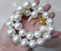 $enCountryForm.capitalKeyWord Australia - Prett Lovely Women's Wedding FREE shipping>>> >>>RARE Huge 16mm White South Sea Shell Pearl Necklace 17""
