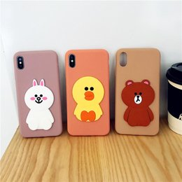Iphone Brown Bear Australia - The rabbit duck bear figure cellular phone protects hull for iphone 6-MAX