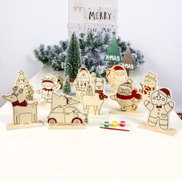 $enCountryForm.capitalKeyWord Australia - Color painting plate Creative wooden diy ornaments kids toys gift Xmas Home Dinner Party Table Decors window Xmas decorations