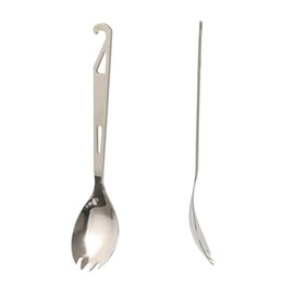 TiTanium backpacking fork online shopping - Lightweight Spork Fork Spoon Titanium Camping Backpacking Cutlery Portable Mini Spoon Fork Outdoor EDC tool