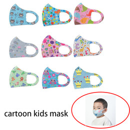 cute cartoon face masks Australia - Ice Silk Cotton Cute Cartoon Kids Washable Face Mouth cover Reusable PM2.5 child party Mask boom2017