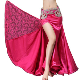 Wholesale belly dance wraps for sale - Group buy 2018 Belly Dancing Clothes Professional Long Fish Tail Skirts Wrapped Skirt Lace Women Belly Dance Satin Skirts without belt