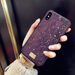 $enCountryForm.capitalKeyWord Australia - YunRT Brand 3D Metal Letter Label Glitter Diamond soft bling phone case for iphone 6 S 6S 7 7 plus 8 X XS XR XS MAX phone coque