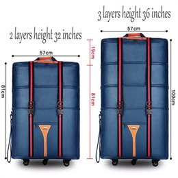 b7164ada19ca Travel tale 32 36 inch Large capacity Oxford cloth rolling luggage bag  abroad to study and move to move folding trolley suitcase