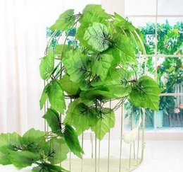 $enCountryForm.capitalKeyWord Australia - 2.4m Green Artificial Ivy Leaf Garland Plants Vine Fake Foliage Flowers Plastic Artificial Flower Rattan Evergreen Cirrus Home Party Decor