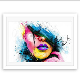 $enCountryForm.capitalKeyWord Australia - HD Prints Canvas Posters Home Decor One Panel Beautiful Girl Face Paintings Wall Art Scenery Pictures Modular Living Room